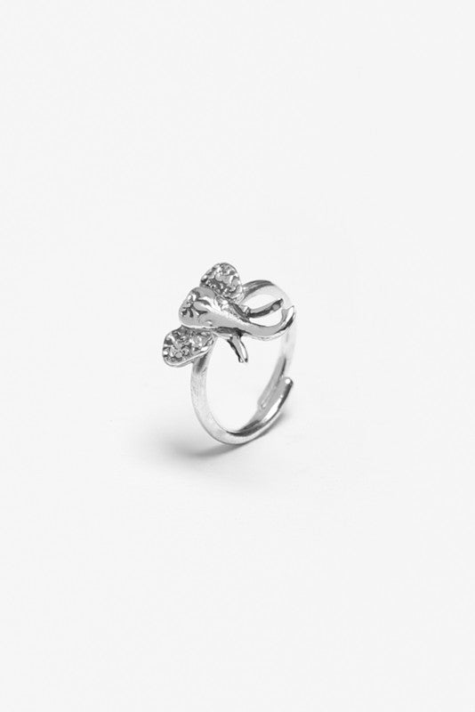 Elephant Sterling Ring