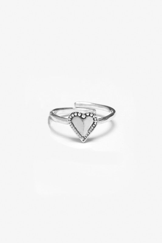 Monterey Heart Sterling Ring