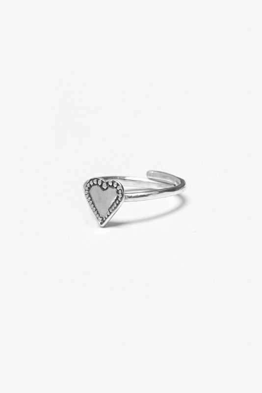 Monterey Heart Sterling Ring - Silver Spoon Jewelry