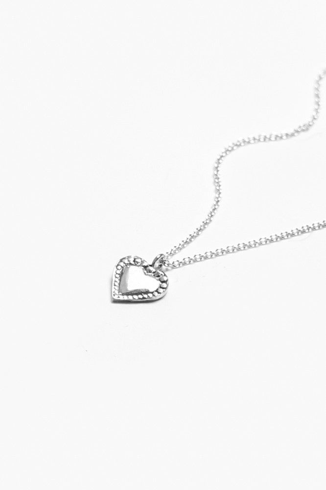 Monterey Heart Sterling Necklace - Silver Spoon Jewelry