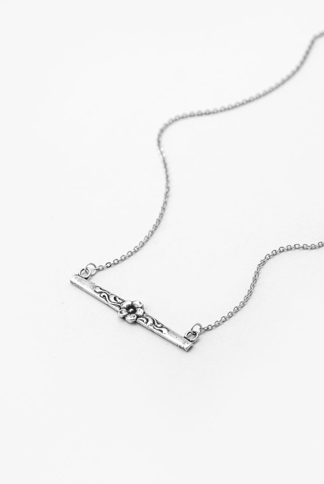Diana Bar Necklace - Silver Spoon Jewelry