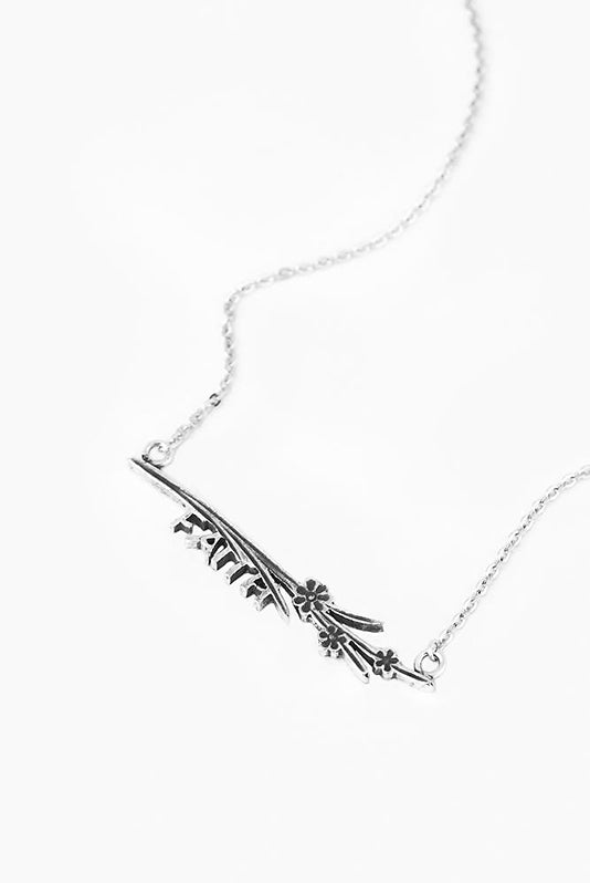Maisie Faith Inspirational Bar Necklace - Silver Spoon Jewelry