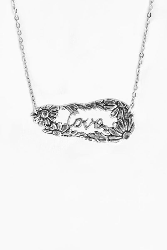Daisy Love Inspirational Necklace - Silver Spoon Jewelry