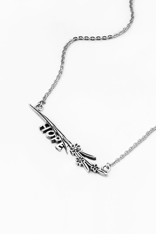 Maisie Hope Inspirational Bar Necklace - Silver Spoon Jewelry