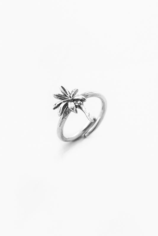 Palm Tree Sterling Ring