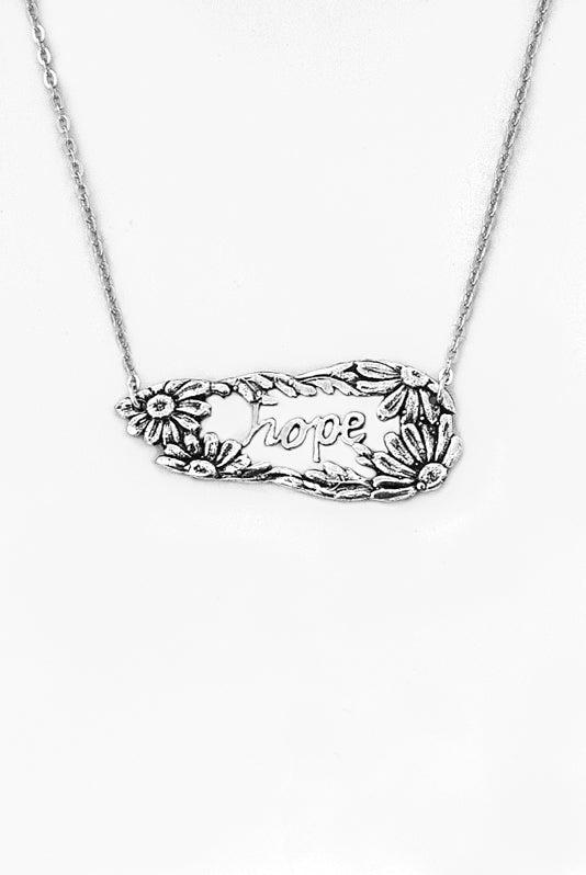 Daisy Hope Inspirational Necklace - Silver Spoon Jewelry