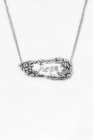 Daisy Hope Inspirational Necklace