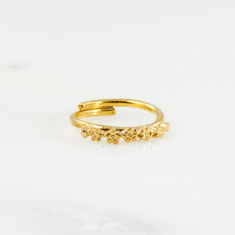 Vermeil Flora Sterling Ring