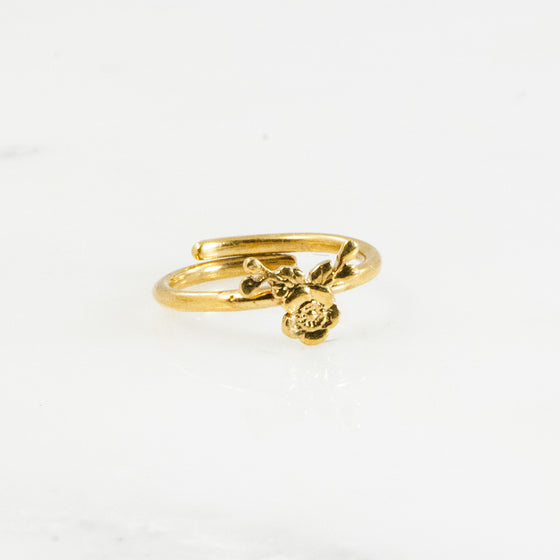 Vermeil Lady Helen Sterling Ring