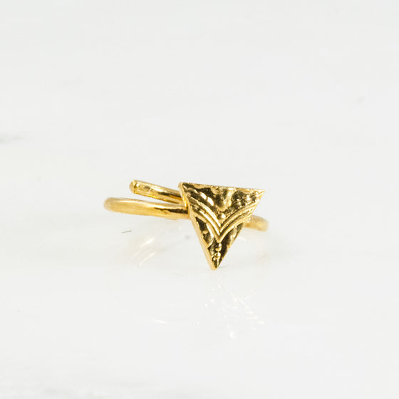 Vermeil Triangle Sterling Ring - Silver Spoon Jewelry