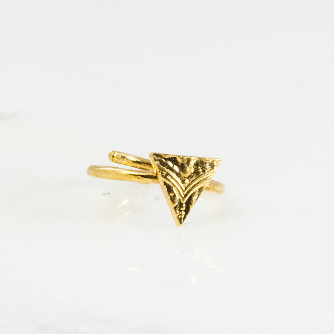 Vermeil Triangle Sterling Ring