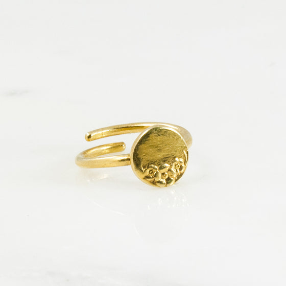 Vermeil Circle Sterling Ring