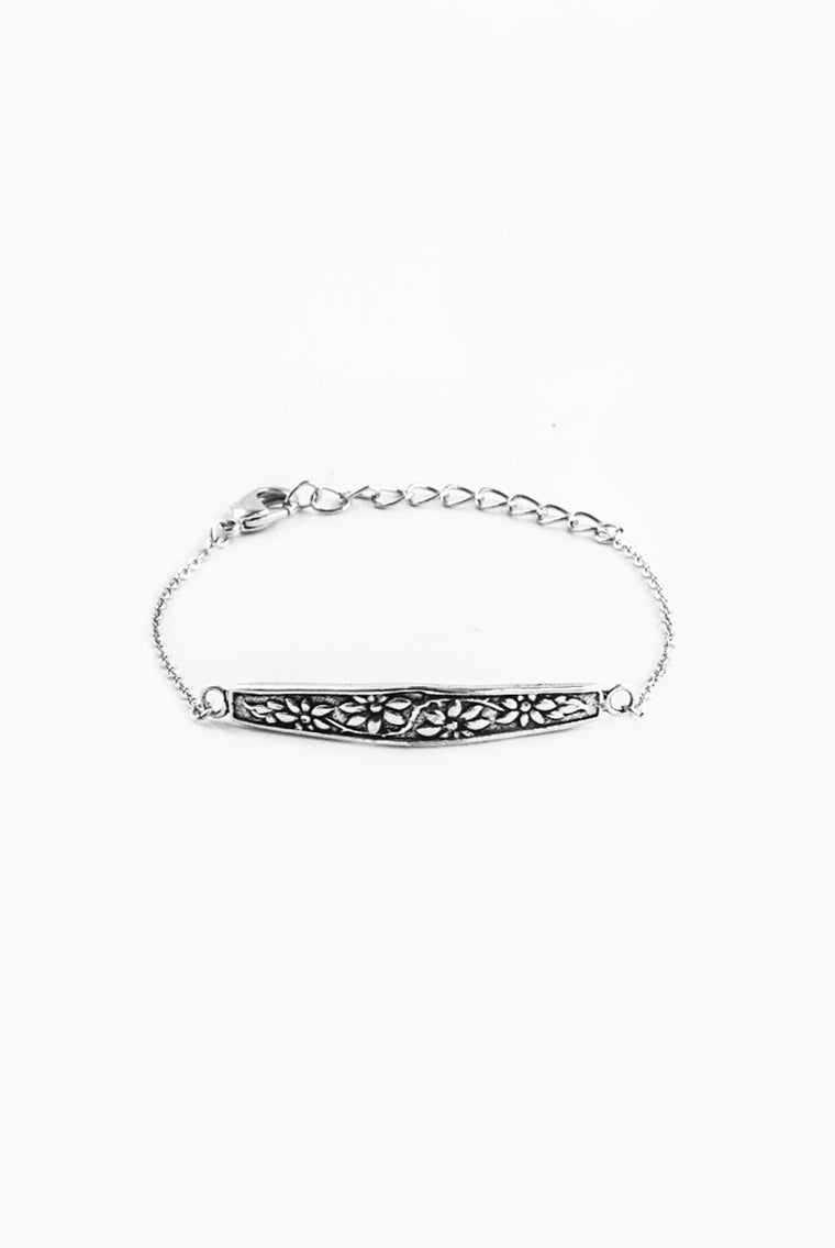 Faith Bar Bracelet - Silver Spoon Jewelry
