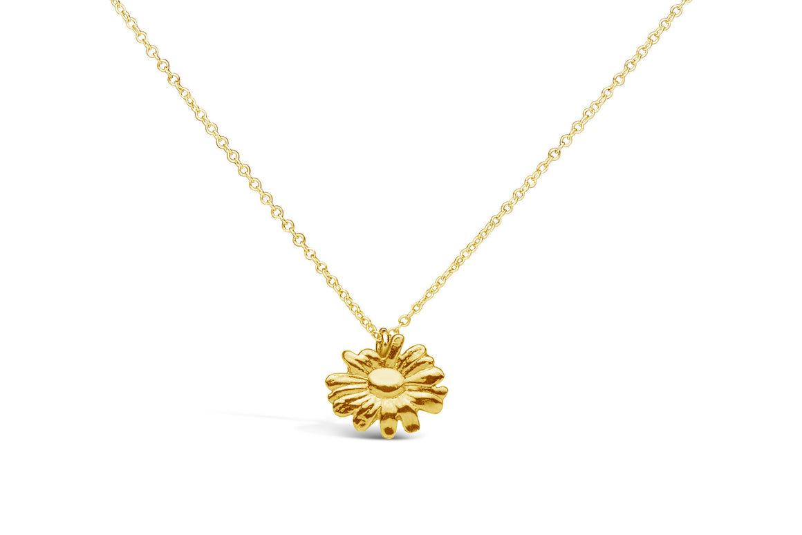 Vermeil Daisy Sterling Necklace - Silver Spoon Jewelry
