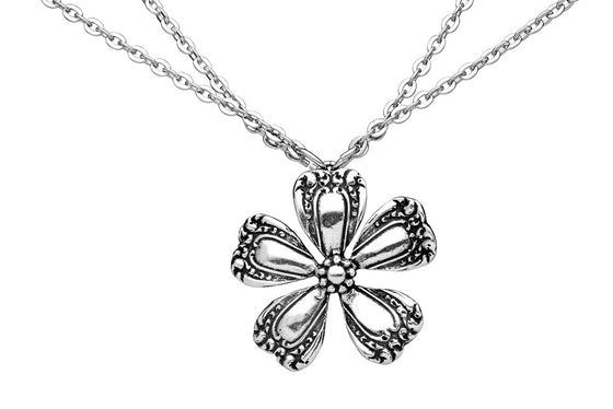 Petunia Flower Necklace - Silver Spoon Jewelry