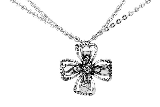 Marquis Flower Necklace - Silver Spoon Jewelry