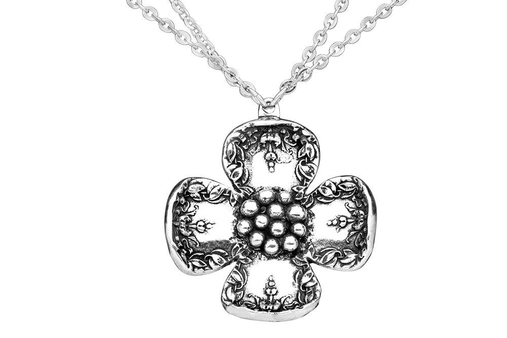 Beth Flower Necklace - Silver Spoon Jewelry