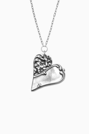 Charlotte Sterling Silver Heart Necklace
