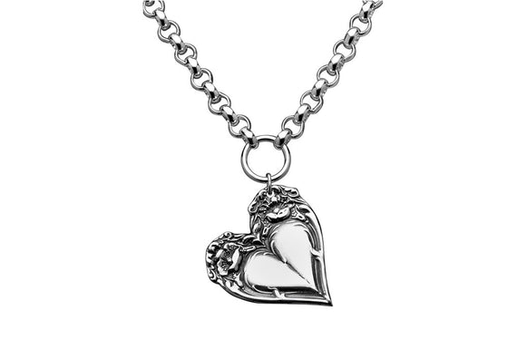 Victoria Heart Necklace - Silver Spoon Jewelry