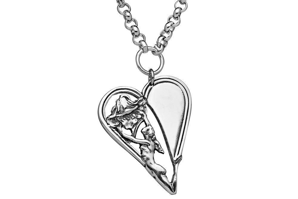 Phoebe Heart Necklace - Silver Spoon Jewelry