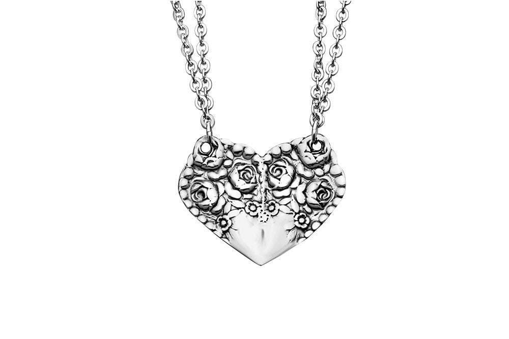 Rosemary Heart Pendant - Silver Spoon Jewelry