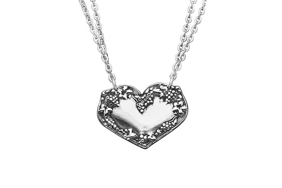 Merlot Heart Necklace - Silver Spoon Jewelry
