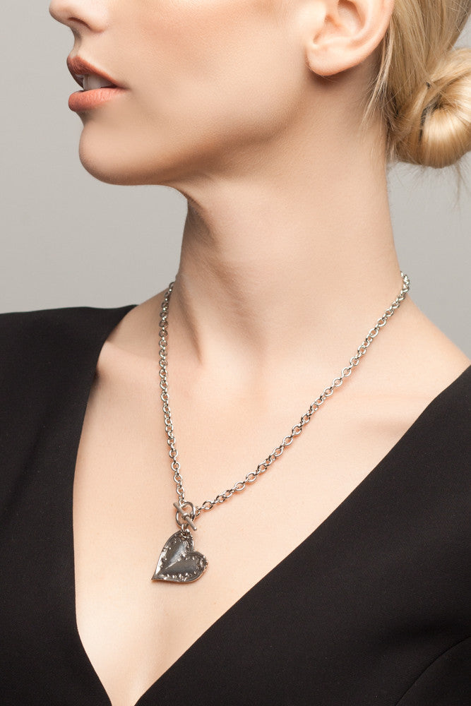 Lila Heart Toggle Necklace