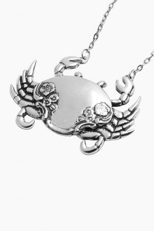 Mr. Crab Sterling Silver Necklace