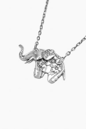 Elephant Too Sterling Silver Necklace