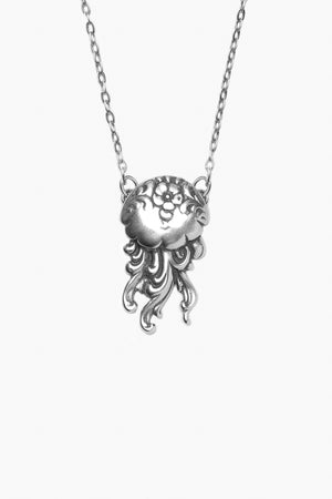 Jellyfish Sterling Silver Necklace