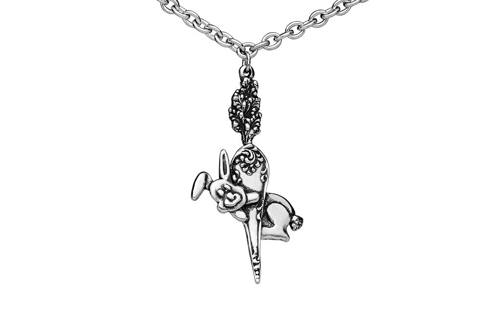Fluffy Rabbit Necklace - Silver Spoon Jewelry
