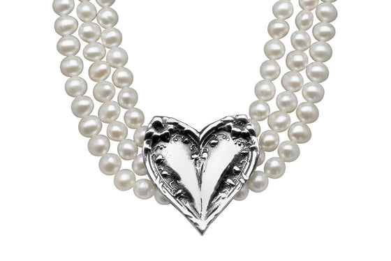 Lila Freshwater Pearl Bridal Necklace