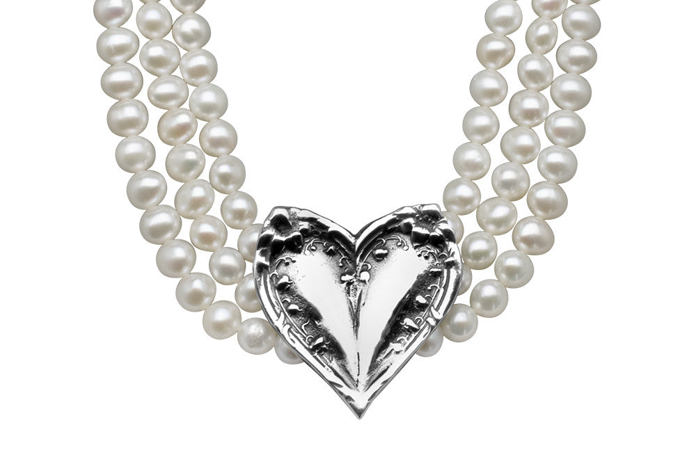 Lila Freshwater Pearl Bridal Necklace - Silver Spoon Jewelry