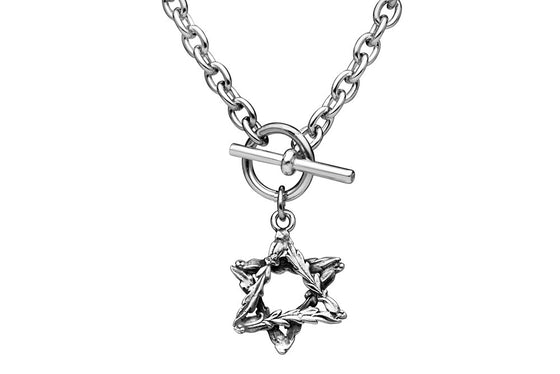 Laureate Star of David Toggle Necklace - Silver Spoon Jewelry