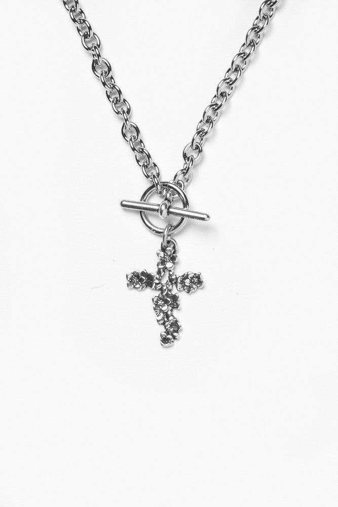 Nora Cross Toggle Necklace