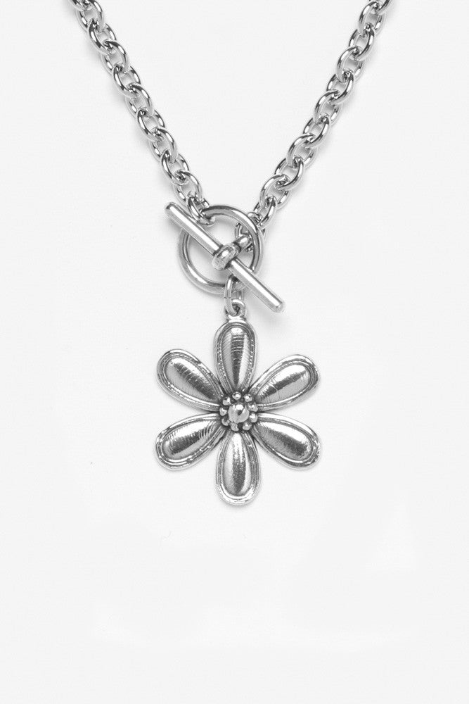 Marquis Flower Toggle Necklace