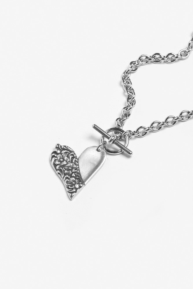 Charlotte Heart Toggle Necklace
