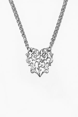 Alicia Heart Necklace - Silver Spoon Jewelry