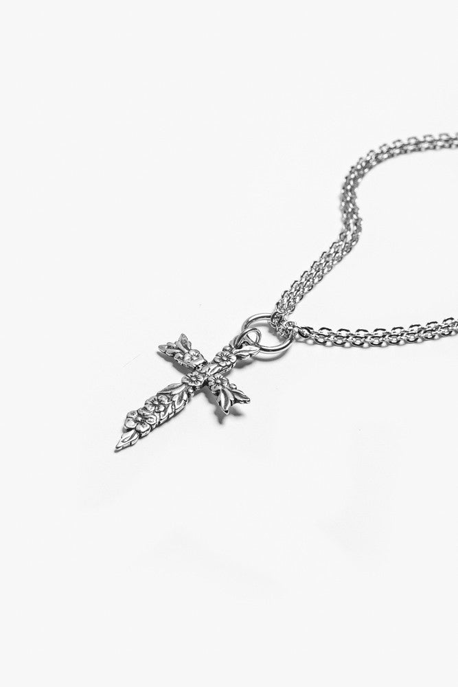 Sarah Cross Pendant Necklace - Silver Spoon Jewelry