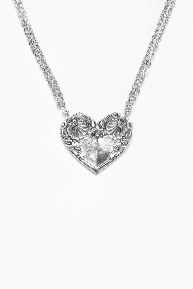 Colonial Shell Heart Necklace