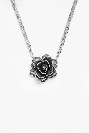 Rose Sterling Silver Necklace - Silver Spoon Jewelry