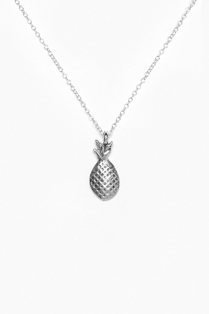 Pineapple Sterling Necklace - Silver Spoon Jewelry