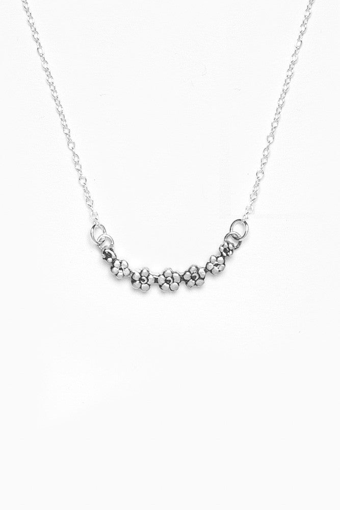 Flora Sterling Necklace - Silver Spoon Jewelry
