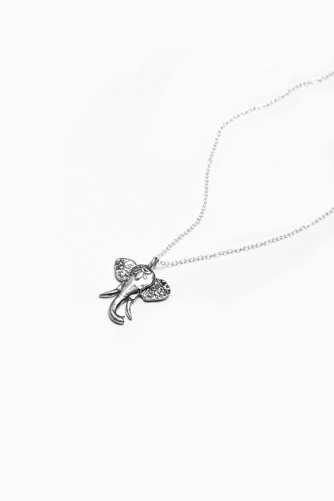 Elephant Sterling Necklace - Silver Spoon Jewelry