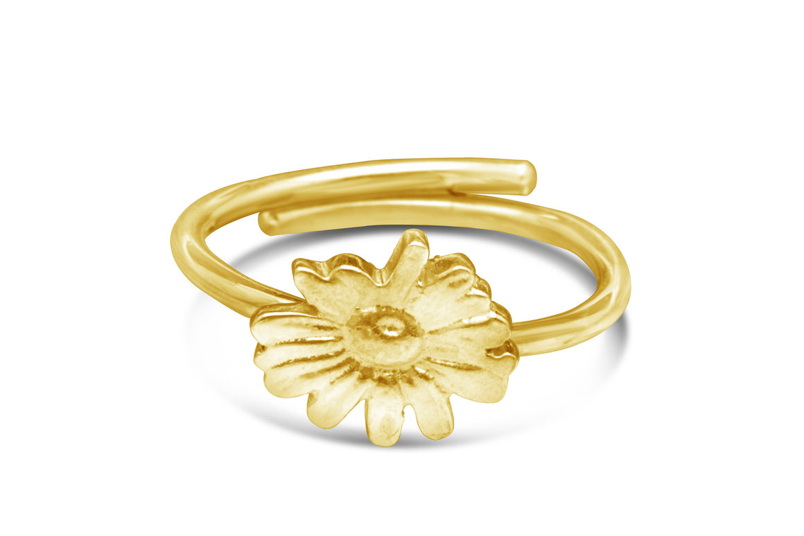 Vermeil Daisy Sterling Ring - Silver Spoon Jewelry