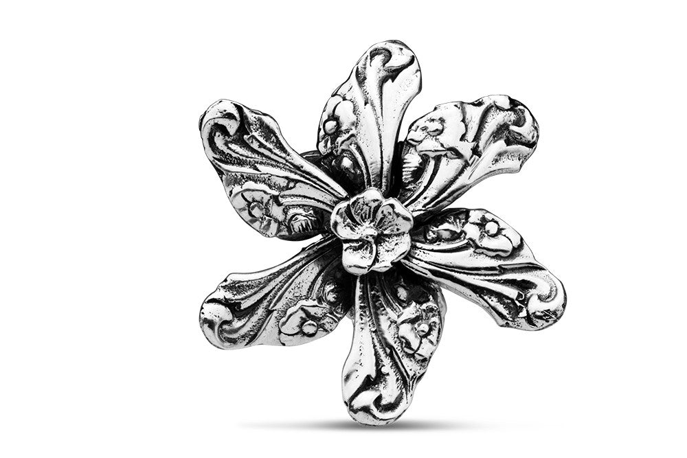 Georgia Flower Brooch Pin - Silver Spoon Jewelry