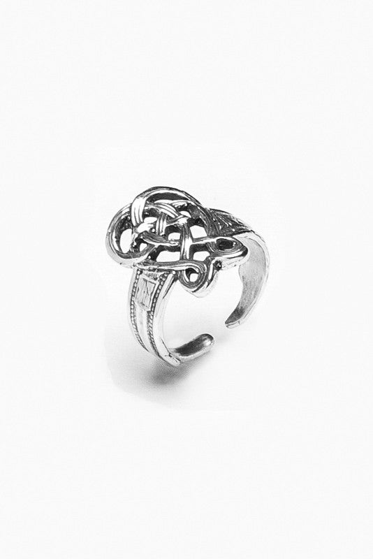 Celtic Spoon Ring - Silver Spoon Jewelry
