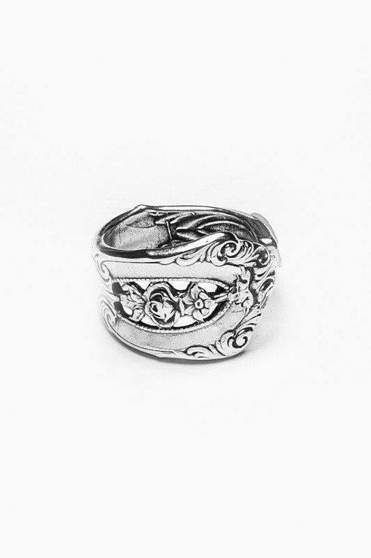Empire Spoon Ring - Silver Spoon Jewelry