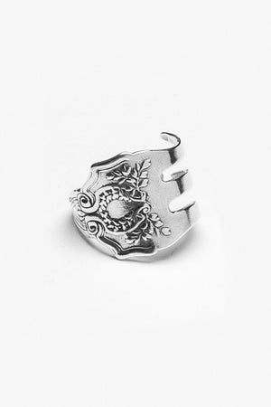 Fork Laureate Spoon Ring - Silver Spoon Jewelry