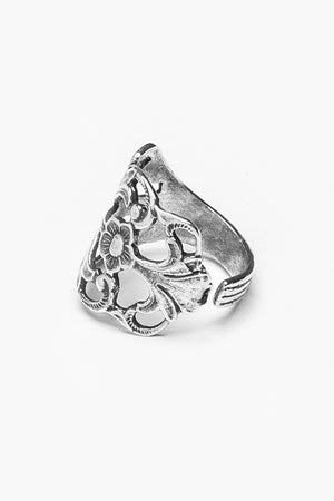 Hazel Sterling Spoon Ring - Silver Spoon Jewelry